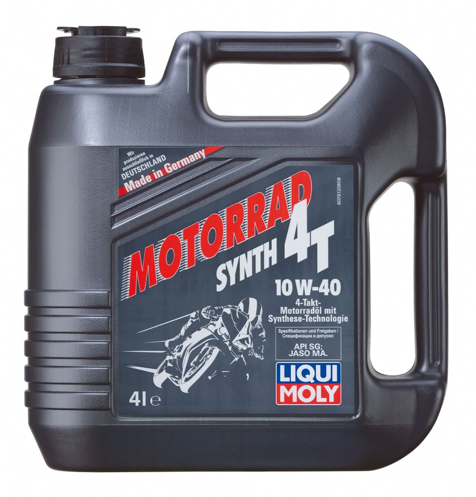 Масло моторное LIQUI MOLY Motorrad 4T SAE 10W40 4л (синтетика)