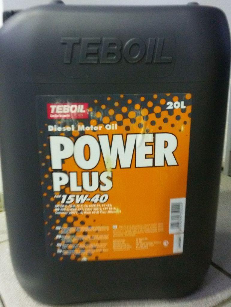 Масло моторное диз TEBOIL POWER PLUS 15W40 (18кг)