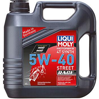 Масло моторное LIQUI MOLY Motorrad Synth 4T SAE 5W40 4л (синтетика)