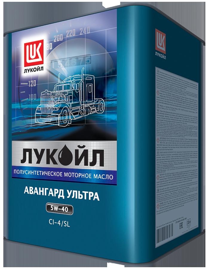 Масло моторное ЛУКОЙЛ АВАНГАРД Ультра CI-4/SL SAE 5W40 бид.18л (полусинтетика)