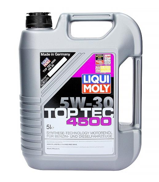 Масло моторное LIQUI MOLY Top Tec 4500 С1 SAE 5W30 5л (H-Синтетика)