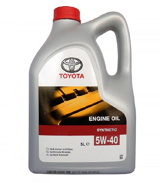 Масло моторное TOYOTA SL/CF SAE 5W40 5л (синтетика)
