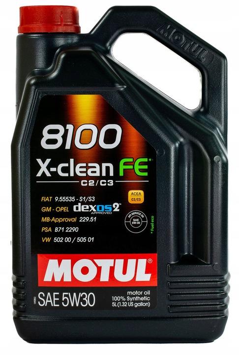 Масло моторное MOTUL 8100 X-clean FE SAE 5W30 5л (100%синтетика)