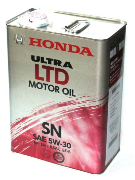 Масло моторное HONDA Ultra LTD SN SAE 5W30 4л