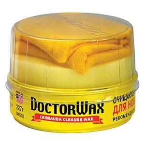 Полироль DOCTOR WAX защита для новых покрытий + салфетка 227гр