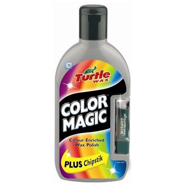 Полироль TURTLE WAX Color Magic серебристый + карандаш 500мл