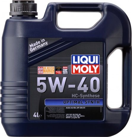Масло моторное LIQUI MOLY Optimal Synth SAE 5W40 4л (HС-Синтетика)