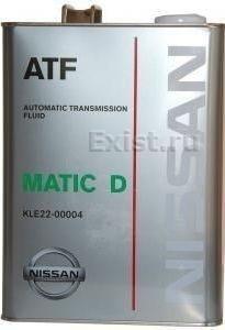 Масло трансмиссионное NISSAN ATF Matic Fluid D 4л