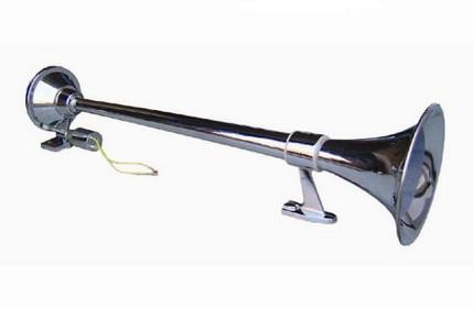 Сигнал звуковой AVS воздушный с компрессором 1 труба 12v хром