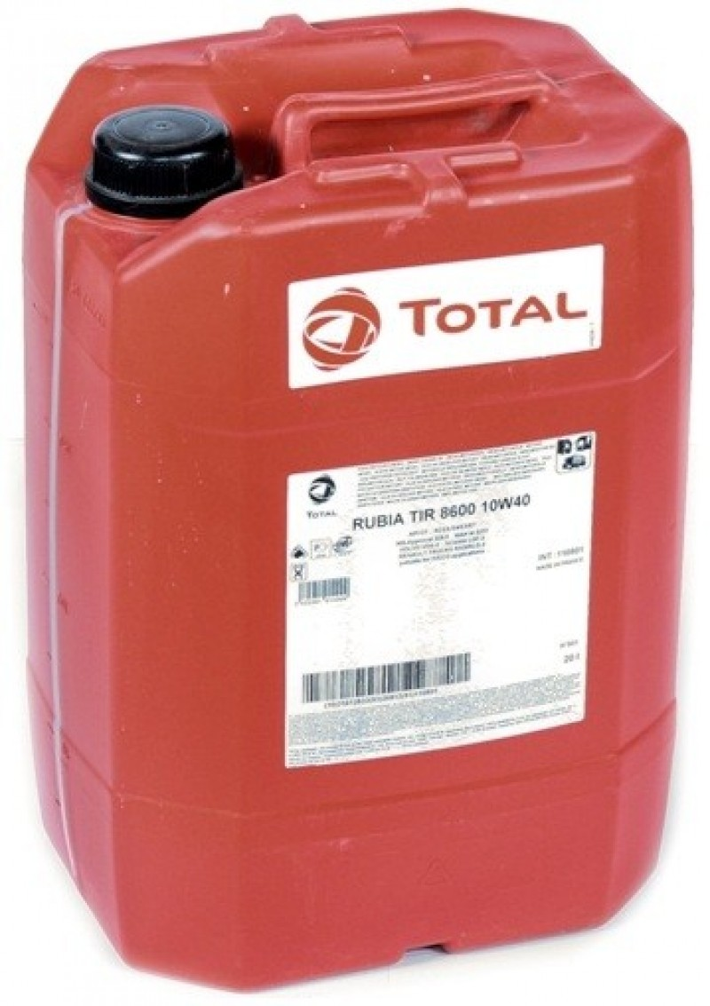 Масло моторное TOTAL RUBIA TIR 8600 10W40 диз. 20л