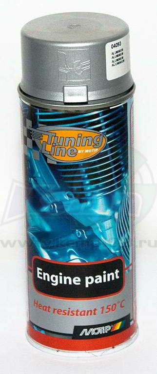 Краска MOTIP для обработки моторных блоков серебристая 400мл (аэрозоль)