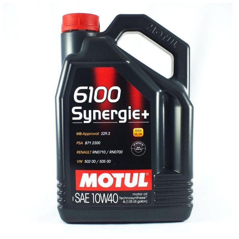 Масло моторное MOTUL 6100 Synergie+ SAE 10W40 4л (полусинтетика)