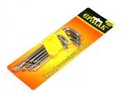 Набор ключей ЕРМАК имбусовые (TORX) 9 предметов
