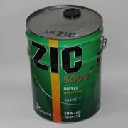 Масло моторное ZIC 5000 DIESEL SAE 10W40 20л (полусинтетика)