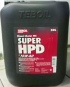Масло моторное диз TEBOIL SUPER HPD 15W40 (18кг)