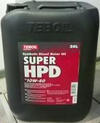 Масло моторное диз TEBOIL SUPER HPD 10W40 (18кг)