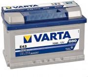 Аккумулятор VARTA Blue E43 6СТ-72 о/п