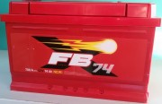 Аккумулятор FB 6СТ-74 о/п низкий (красный)