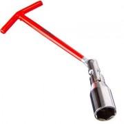 Ключ свечной ЕРМАК 21мм усиленный с карданным шарниром желтый цинк