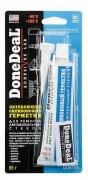Герметик DONE DEAL затекающий силиконовый для ремонта стекол 85гр