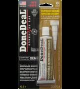 Герметик DONE DEAL термостойкий с медью силиконовый  формирователь прокладок 42,5гр