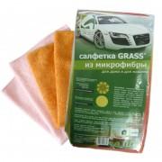 Салфетка GRASS для дома и автомобиля микрофибра 35х40см (10шт)