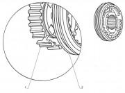 РК синхронизатора 2-3 передачи (ролик, фиксатор,пружина)Г-33104, 3309 Riginal