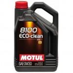 Масло моторное MOTUL 8100 Eco-clean SAE 0W30 5л (100%синтетика)