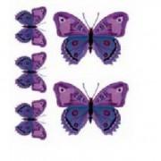 """Наклейка """"Бабочки-тату фиолет""""(7,5х22см)"""