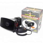 Сирена звуковая PREMIER 120W 4 тона 12V с микрофоном