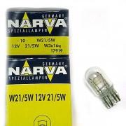 Лампа NARVA 12V W21/5W 2-х контактная бесцок.