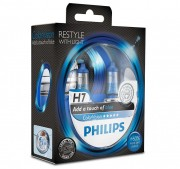 Лампа PHILIPS Н7-12V 55W+60% Color Vision blue 2шт