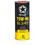 Масло трансмиссионное VERY LUBE GL 3/4/5 SAE 75W90 1л (синтетика)