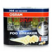Лампа OSRAM Н4-12V 60/55W +60% Fog Breaker 2600K 2 шт