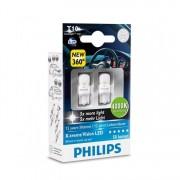 Лампа PHILIPS 12V W5W 4000К T10 белая X-treme Vision светодиод. 2шт.